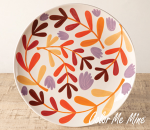 South Miami Fall Floral Charger