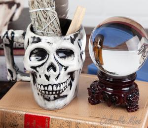 South Miami Antiqued Skull Mug