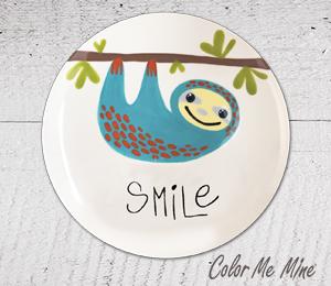 South Miami Sloth Smile Plate