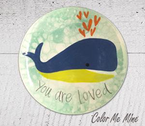 South Miami Whale Love Plate