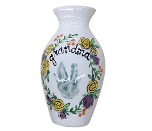 South Miami Floral Handprint Vase