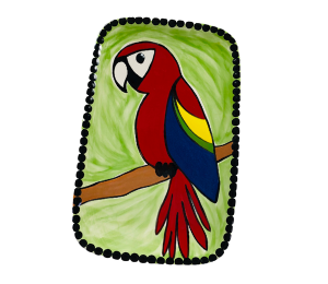 South Miami Scarlet Macaw Plate